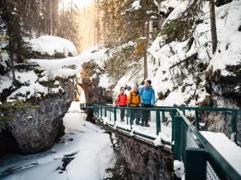 Banff: Johnston Canyon Icewalk am Morgen oder Nachmittag