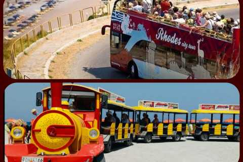 Rhodes: Hop-On-Hop-Off Bus & Ialyssos Little Train Combo