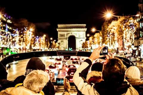 Paris: Open-Top Christmas Lights Bus Tour