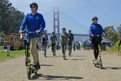 San Francisco: Private E-Scooter Tour to Golden Gate Bridge
