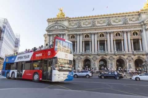 Paris: Express Open-Top Bus Tour with Optional Seine Cruise