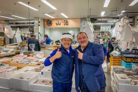 Tokyo: Toyosu Morning Tuna Auction and Tsukiji Food Tour