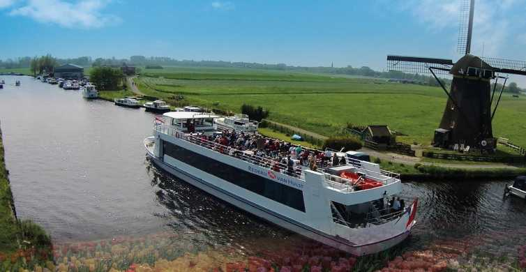 Kagerplassen: Spring Cruise & Keukenhof Gardens Entry Ticket