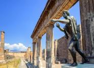 Ab Sorrento: Pompeji & Vesuv Bootstour mit Mittagessen