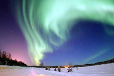 Rovaniemi: Northern Lights Adventure on a Snowmobile