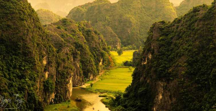 Från Hanoi: Hoa Lu och Tam Coc sightseeing och cykeltur