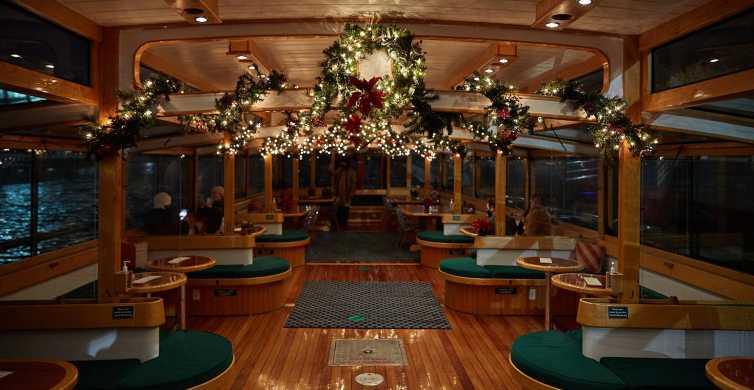 Nueva York: crucero nocturno con luces navideñas y cacao