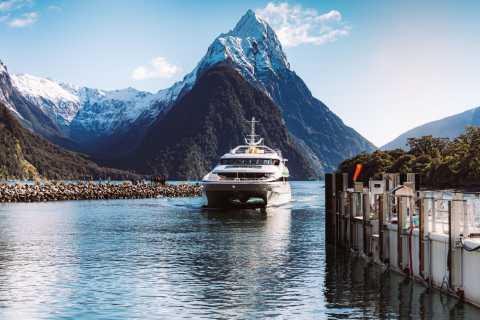 Milford Sound Nature Cruise op een premium catamaran met glazen dak