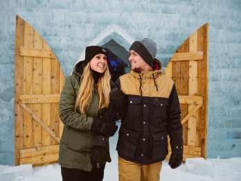Québec: Eintritt zum Eishotel