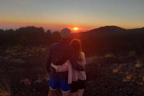 Etna: lichte sunset-trekking in recente en oude lavastromen