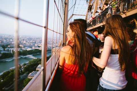 Tour Eiffel: accès direct et visite au coucher du soleil