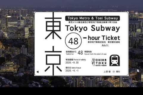 Tokio: billete de metro de 24, 48 o 72 horas