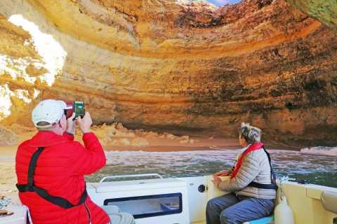De Portimão: Passeio Privativo de Barco de 2 horas para a Caverna Benagil