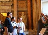 Vatikanische Museen in der Tiefe mit Sixtinischer Kapelle
