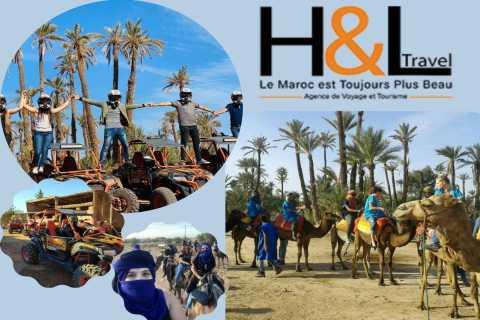 Marrakesh: een halve dag de duinen in per buggy en kameel