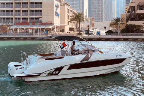 Dubai: Luksusbådtur med svømning, sol og sightseeing