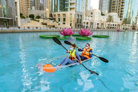 Dubai: Burj Lake Boat, Water, and Kayaking Activities