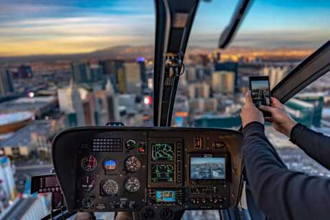 Las Vegas: Helicopter Night Flight & Dinner Package at ARIA