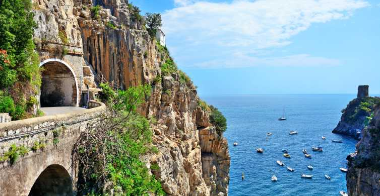 Costiera amalfitana: tour di 1 giorno da Napoli o Sorrento