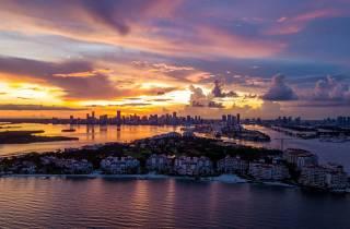 Miami: Sunset Cruise durch Biscayne Bay und South Beach