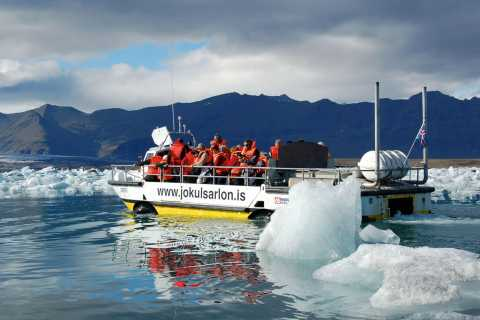 From Reykjavik: Jökulsárlón Glacial Lagoon with Boat Trip