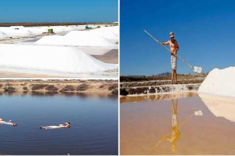 From Faro: Salt Pond Tour and Bathing in Portugal's Dead Sea