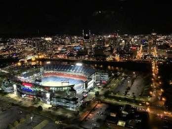 Nashville: 15-minütige Hubschrauberrundfahrt durch die Innenstadt bei Sonnenuntergang/Nacht
