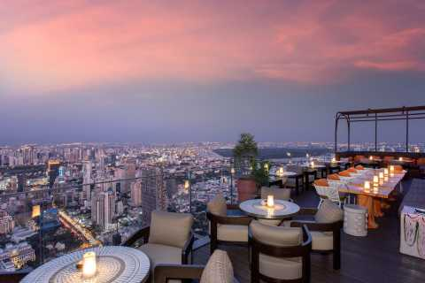 Bangkok: MahaNakhon Sky Bar 3 and 4-Course Luxury Set Dinner