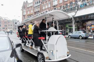 Amsterdam: 75-minütige Bierbike-Tour