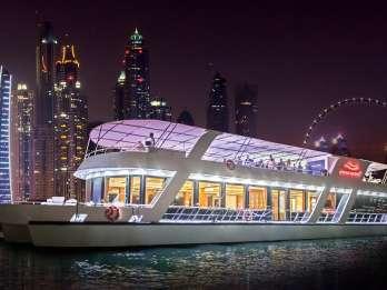 Dubai: Dinnerfahrt mit Getränken & Live-Musik