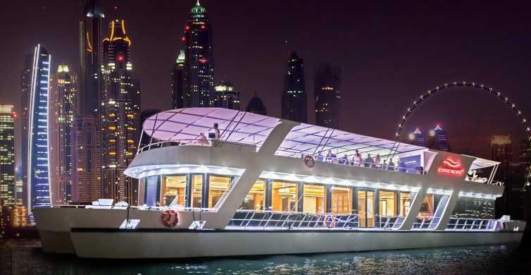 Dubai: 1,5-times middagsbådtur med drikkevarer og livemusik