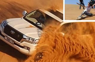 Dubai: Extreme Wüsten-Safari, Sand-Boarding & Camp Grillen