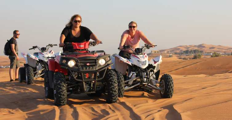 Dubai Evening Desert Quad Bike Adventure and BBQ Dinner