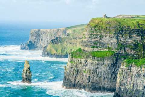 From Dublin: Cliffs of Moher and Galway Full-Day Trip with Visitor Centre Entry