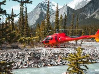 Kanadische Rocky Mountains: Private Hubschraubertour und Wanderung für zwei Personen