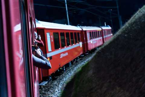 From Tirano: Bernina Red Train Ticket with Private Guide