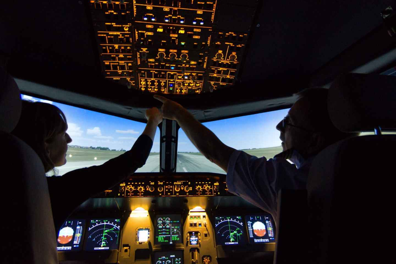 Leipzig: Airbus A320 Flugsimulation