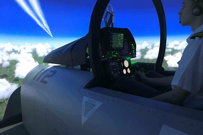 Leipzig: FA18 Super Hornet Flugsimulation