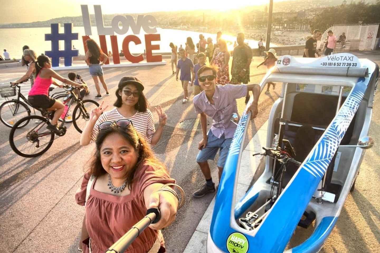 Nizza: Geführte Privattour mit dem elektrischen Velotaxi