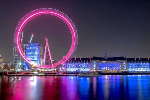 London: London by Night Bus Tour and Thames Cruise