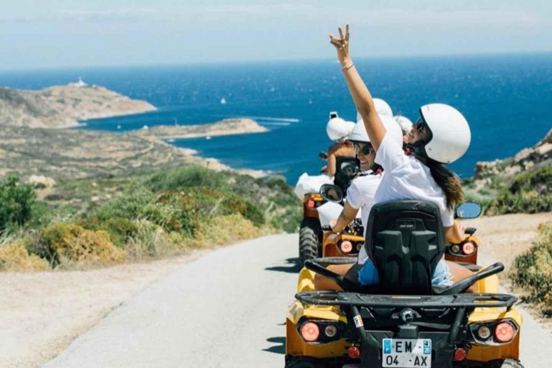 Calvi: 2-stündige Quad-Radtour zwischen Meer und Bergen