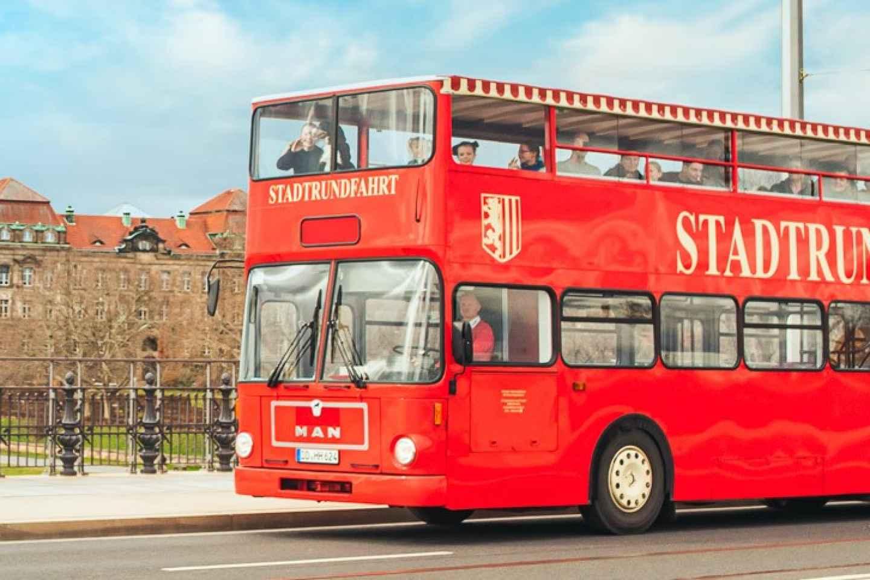Dresden: Große Stadtrundfahrt im roten Doppeldeckerbus