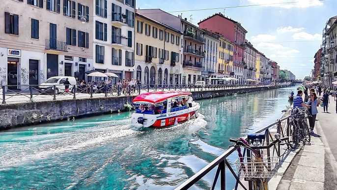 Milán: crucero por el canal Navigli de 1 hora con audioguía