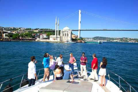 Круиз на закате по Босфору в Стамбуле с вином на роскошной яхте