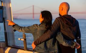 Lisbon: Ferry Boat Sunset Cruise in the Tagus River