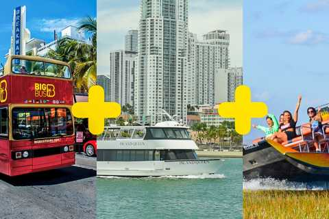 Miami Big Bus Combo: Everglades, tour della città e crociera