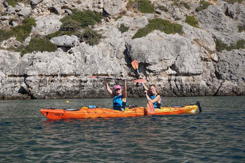 Rhodos: Seekajakfahren und Schnorcheln ab der Ostküste