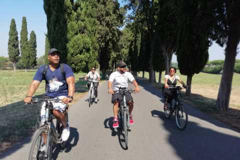 Roma: excursão de vinho e óleo ao longo da Via Ápia de bicicleta elétrica