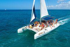 Ilha Saona: Excursão de Barco 1 Dia com Upgrades Opcionais