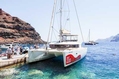 Santorin: catamaran de luxe avec repas et open bar